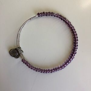 Alex and Ani (silver, purple beading)